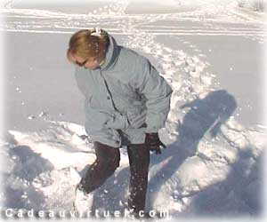 Faire des traces dans la neige