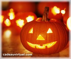 une lanterne halloween