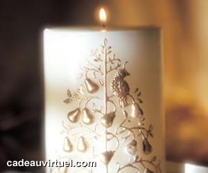 une bougie de Noël