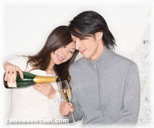 un verre de champagne pour fêter ça !