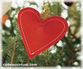 Cliquez pour choisir un coeur dans le sapin