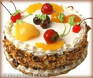 un gateau aux fruits